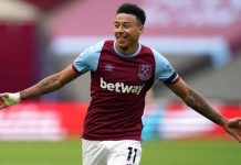 Lingard has scored eight goals in nine appearances for West Ham