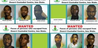 Nigerian correctional service reveals the identities of the fleeing Imo inmates