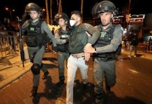Police tried to keep the rival groups apart, detaining a number of protesters in East Jerusalem