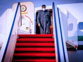 President Muhammadu Buhari returns to Abuja, Nigeria from the United Kingdom