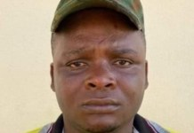 Former Army Lance Corporal, Livinus Owalum-Barnabas was arrested for training IPOB members