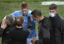 Kevin De Bruyne was replaced by Gabriel Jesus in the 60th minute