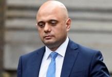 British Health Secretary Sajid Javid has tested positive for COVID-19
