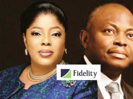Fidelity Bank CEO, Mrs Nneka Onyeali-Ikpe and former CEO, Nnamdi Okonkwo