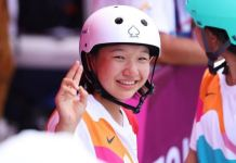 Japan's Momiji Nishiya has won her first gold medal at the age of 13
