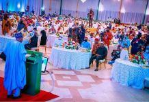 President Muhammadu Buhari addressing the 9th Senate on insecurity at the Aso Villa on Tuesday