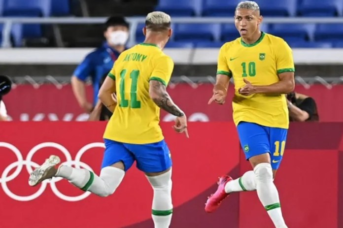 Olympics Richarlison scored a hat-trick in the first 45 minutes of the game