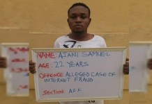 UNILORIN final year student, Ajani Samuel was jailed over internet fraud