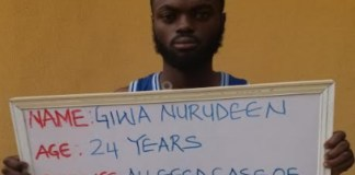 Unilorin final year student, Giwa Nurudeen sentenced to 3 years in prison for internet scam