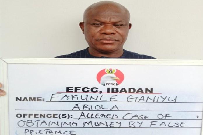 Fakunle Ganiyu Abiola was arraigned for admission scam in ibadan