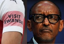 Paul Kagame was frustrated by Arsenal's defeat