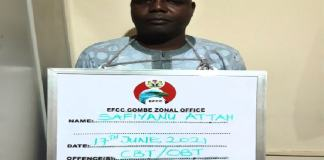 Safiyanu Attah was convicted for employment fraud gombe