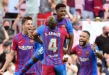 Ansu Fati Viera scored in his first game for Barcelona since November 2020