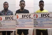 Ayinde Qudus, Ademola Samuel and Abdulazeez Faruq were jailed for internet scam
