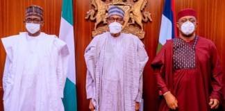 Fani Kayode, Mai Mala Buni and President Muhammadu Buhari