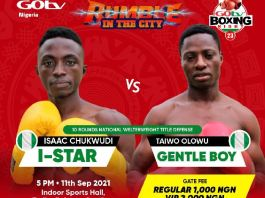 I-Star versus Gentle Boy GOtv Boxing Night 23