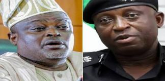 Speaker of the Lagos State House of Assembly, Rt. Hon. (Dr) Mudashiru Obasa condoles with Lagos Commissioner of police, Hakeem Odumosu
