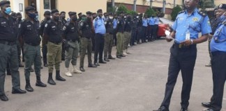 Lagos state Commissioner of police addressed officers