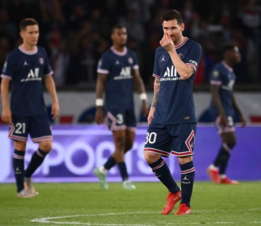Messi has failed to score in any of his matches with PSG this season