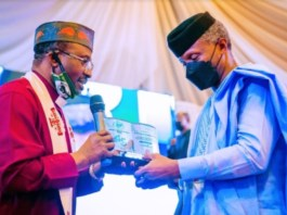 Vice President Yemi Osinbajo attends the 45th Anniversary CAN Awards and Gala Night Ceremony and was conferred upon an Award of Excellence at the Transcorp Hilton, Abuja 25th Sept, 2021