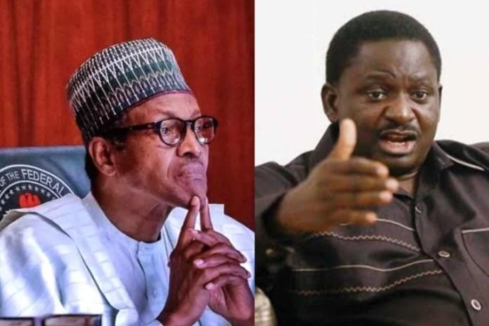 President Muhammadu Buhari and Femi Adesina