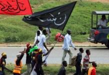 Shiite members protesting in Abuja