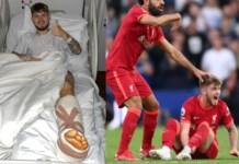 Harvey Elliot was badly injured in Liverpool's game against Leeds