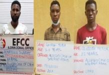 Akinrodolu Sunday, George Tobi and Oluwajobi Victor were convicted for internet fraud in ilorin