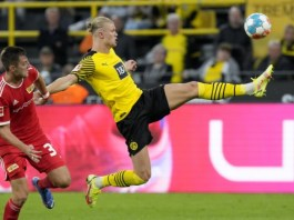 Haaland has scored seven goals in five appearances for Dortmund this season