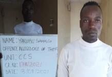 Yakubu Samaila was sentenced to 6 months in prison for theft in Kaduna
