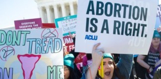 Abortion Rights protesters in US