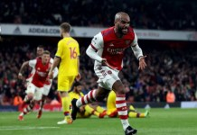 Alexander Lacazette scored in the 95th minute to rescue one point for Arsenal