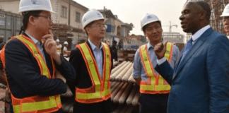 Amaechi CCECC Chairman inspect rail construction