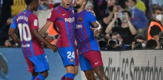 Barcelona Coutinho scored his first goal since November 2020