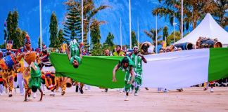 Cultural display from Nigerians as they celebrate the 61st Independence Day