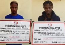 Daniel Ebube Joseph and Anthony Celestine were convicted for Bitcoin scam in Kaduna