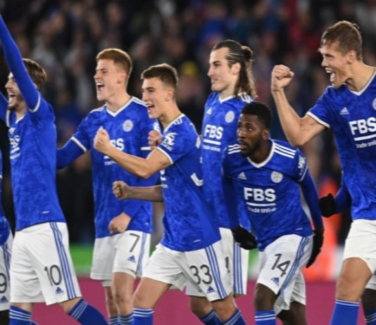 Leicester beat Brighton in penalties to qualify