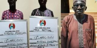 Raymond Mela, Joe Dantata and Kabiru Abdullahi were remanded in Gombe for fraud