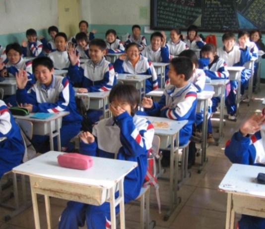 School children in China
