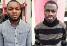 Ukhuriegbe Glory Irekpitan and Onyekwa Joshua Chinedum were arraigned by EFCC for impersonating Anthony Joshua