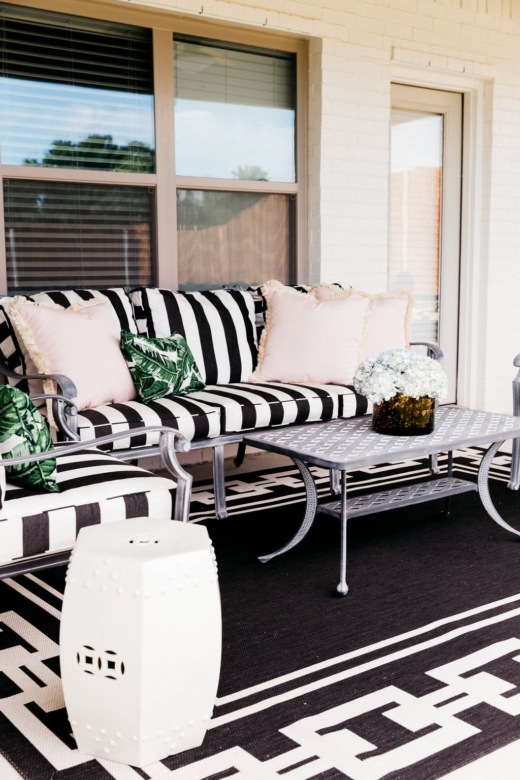 ballard designs dining chair cushions outdoor garden covers our patio before and after with chronicles