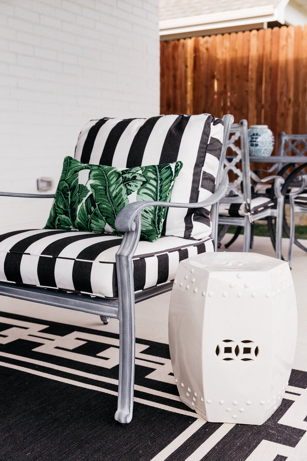ballard designs dining chair cushions pottery barn anywhere cover shrunk our patio before and after with chronicles