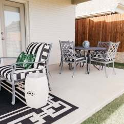 Ballard Designs Dining Chair Cushions Outdoor And Ottoman Cushion Sets Our Patio Before After With Chronicles