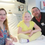 Dr Sobey with Ian Redfern and his daughter Evie