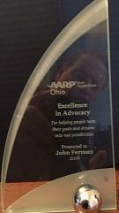 John Ferman 2018 AARP Volunteer Award