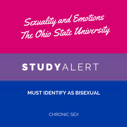white text over the bisexual flag (pink to purple to blue): sexuality and emotions - the ohio state university - must identify as bisexual - chronic sex