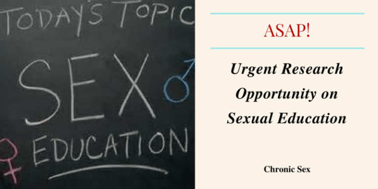 Urgent Research Opportunity on Sexual Education
