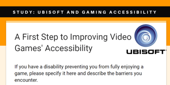 Study- Ubisoft and Gaming Accessibility