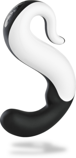 black and white S-shaped toy