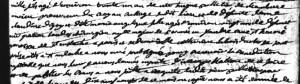 Extrait de l'acte de mariage de Hugues Pelletier de Chambure et Marie Angélique Landes